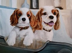 Two Cute Dogs - $50