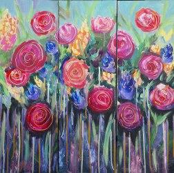 Tryptic Flowers - $60